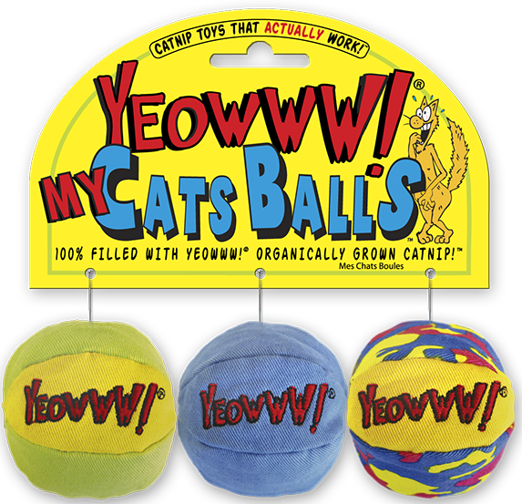 Image result for cat catnip yeowww ball