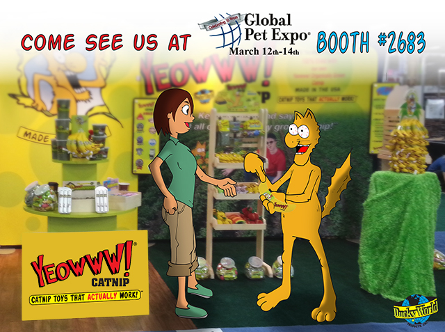 See Yeowww! Catnip at Global Pet Expo 2014